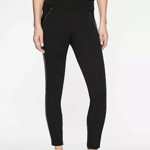 ATHLETA Siena Ankle Pant With Faux Leather Detail